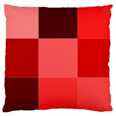 Red Flag Plaid Large Cushion Case (One Side)