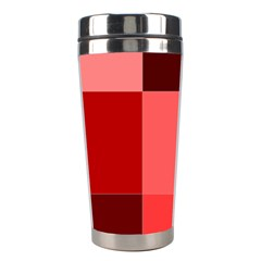 Red Flag Plaid Stainless Steel Travel Tumblers