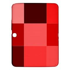 Red Flag Plaid Samsung Galaxy Tab 3 (10.1 ) P5200 Hardshell Case