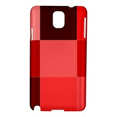 Red Flag Plaid Samsung Galaxy Note 3 N9005 Hardshell Case