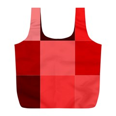 Red Flag Plaid Full Print Recycle Bags (L)