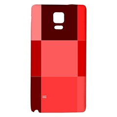 Red Flag Plaid Galaxy Note 4 Back Case