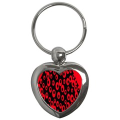 Scatter Shapes Large Circle Black Red Plaid Triangle Key Chains (Heart)