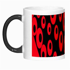 Scatter Shapes Large Circle Black Red Plaid Triangle Morph Mugs