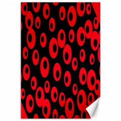 Scatter Shapes Large Circle Black Red Plaid Triangle Canvas 12  x 18
