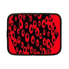 Scatter Shapes Large Circle Black Red Plaid Triangle Netbook Case (Small)
