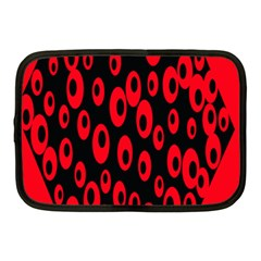 Scatter Shapes Large Circle Black Red Plaid Triangle Netbook Case (Medium)