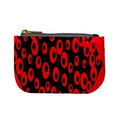 Scatter Shapes Large Circle Black Red Plaid Triangle Mini Coin Purses