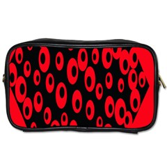 Scatter Shapes Large Circle Black Red Plaid Triangle Toiletries Bags