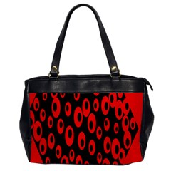 Scatter Shapes Large Circle Black Red Plaid Triangle Office Handbags