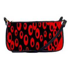 Scatter Shapes Large Circle Black Red Plaid Triangle Shoulder Clutch Bags