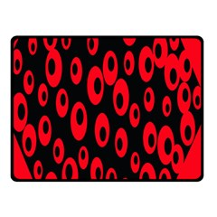 Scatter Shapes Large Circle Black Red Plaid Triangle Fleece Blanket (Small)