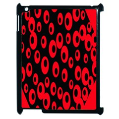 Scatter Shapes Large Circle Black Red Plaid Triangle Apple iPad 2 Case (Black)