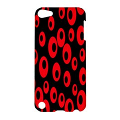 Scatter Shapes Large Circle Black Red Plaid Triangle Apple iPod Touch 5 Hardshell Case