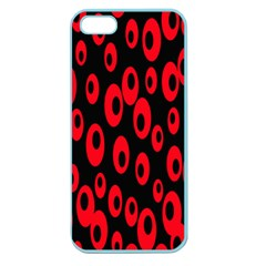 Scatter Shapes Large Circle Black Red Plaid Triangle Apple Seamless iPhone 5 Case (Color)