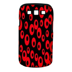 Scatter Shapes Large Circle Black Red Plaid Triangle Samsung Galaxy S III Classic Hardshell Case (PC+Silicone)