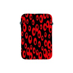 Scatter Shapes Large Circle Black Red Plaid Triangle Apple iPad Mini Protective Soft Cases