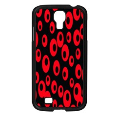 Scatter Shapes Large Circle Black Red Plaid Triangle Samsung Galaxy S4 I9500/ I9505 Case (Black)