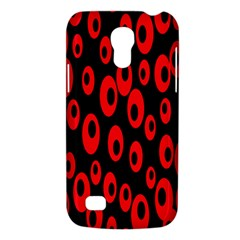 Scatter Shapes Large Circle Black Red Plaid Triangle Galaxy S4 Mini