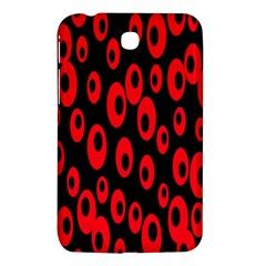 Scatter Shapes Large Circle Black Red Plaid Triangle Samsung Galaxy Tab 3 (7 ) P3200 Hardshell Case