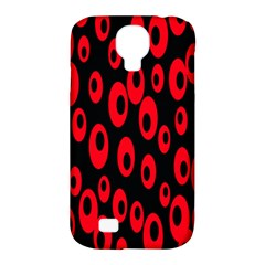 Scatter Shapes Large Circle Black Red Plaid Triangle Samsung Galaxy S4 Classic Hardshell Case (PC+Silicone)