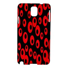 Scatter Shapes Large Circle Black Red Plaid Triangle Samsung Galaxy Note 3 N9005 Hardshell Case
