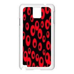 Scatter Shapes Large Circle Black Red Plaid Triangle Samsung Galaxy Note 3 N9005 Case (White)