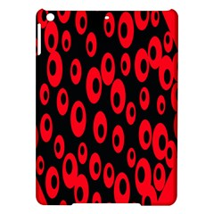 Scatter Shapes Large Circle Black Red Plaid Triangle Ipad Air Hardshell Cases