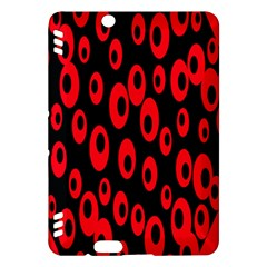 Scatter Shapes Large Circle Black Red Plaid Triangle Kindle Fire HDX Hardshell Case