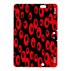 Scatter Shapes Large Circle Black Red Plaid Triangle Kindle Fire HDX 8.9  Hardshell Case