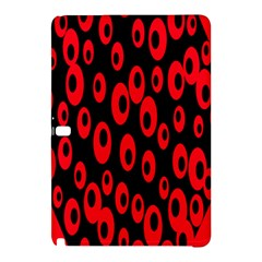 Scatter Shapes Large Circle Black Red Plaid Triangle Samsung Galaxy Tab Pro 10.1 Hardshell Case