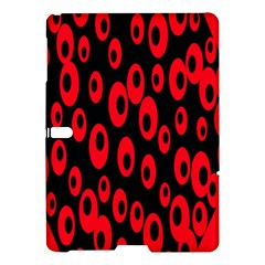 Scatter Shapes Large Circle Black Red Plaid Triangle Samsung Galaxy Tab S (10.5 ) Hardshell Case