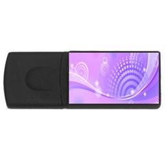 Purple Circle Line Light USB Flash Drive Rectangular (2 GB)