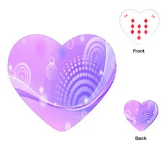 Purple Circle Line Light Playing Cards (Heart)