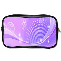 Purple Circle Line Light Toiletries Bags