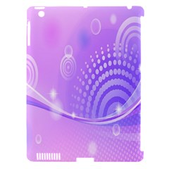 Purple Circle Line Light Apple iPad 3/4 Hardshell Case (Compatible with Smart Cover)