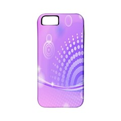 Purple Circle Line Light Apple iPhone 5 Classic Hardshell Case (PC+Silicone)