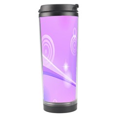 Purple Circle Line Light Travel Tumbler