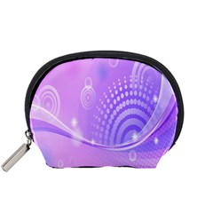 Purple Circle Line Light Accessory Pouches (Small)