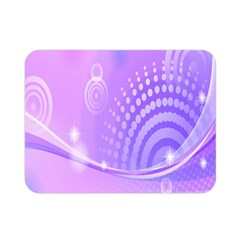 Purple Circle Line Light Double Sided Flano Blanket (Mini)