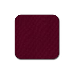 Camouflage Seamless Texture Maps Red Beret Cloth Rubber Coaster (Square)