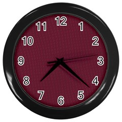 Camouflage Seamless Texture Maps Red Beret Cloth Wall Clocks (black)
