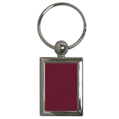 Camouflage Seamless Texture Maps Red Beret Cloth Key Chains (Rectangle)