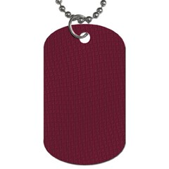 Camouflage Seamless Texture Maps Red Beret Cloth Dog Tag (One Side)