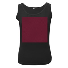 Camouflage Seamless Texture Maps Red Beret Cloth Women s Black Tank Top