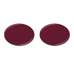 Camouflage Seamless Texture Maps Red Beret Cloth Cufflinks (Oval)