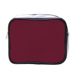 Camouflage Seamless Texture Maps Red Beret Cloth Mini Toiletries Bags