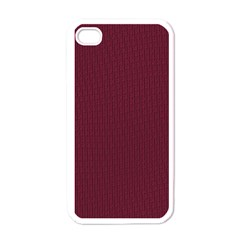 Camouflage Seamless Texture Maps Red Beret Cloth Apple iPhone 4 Case (White)
