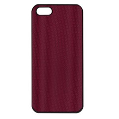 Camouflage Seamless Texture Maps Red Beret Cloth Apple Iphone 5 Seamless Case (black)