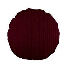 Camouflage Seamless Texture Maps Red Beret Cloth Standard 15  Premium Round Cushions